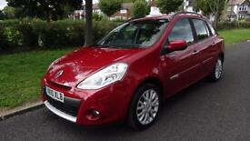 RENAULT CLIO DYNAMIQUE TOMTOM DCI -12 months MOT 2010 Manual 75000 Diesel Red