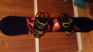 Snowboard package burton bmc 56 board w bindings and boots