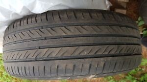 3 USED ALLSEASON CAR AUTO TIRES GOOD TREAD LIFE 205/60R16
