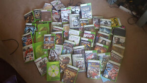 Xbox 360+ games,bundle,lot with rare white kinect