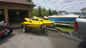 Pair of 97 seadoo XP's with double trailer $7000 obo