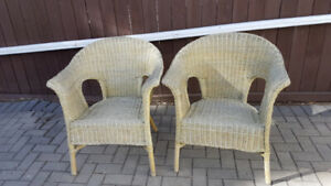 Pair of Natural Wicker Chairs