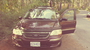 Ford Windstar Minivan - Excellent camping vehicle