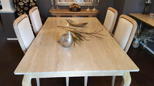 Marble dinning table & 4 Gorgeous chairs