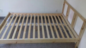 Bed frame + mattress from IKEA $200 - Queen size good condition