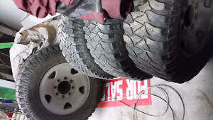 Tires on ford rims Prince George British Columbia image 1
