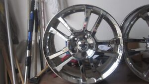 2012 Ford Fusion Rims, 18 inch and chrome