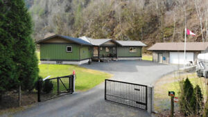 Custom Built Home with 8.1 Acres on Mountainview Road in Agassiz
