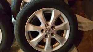 Aluminum rims and tires  16in
