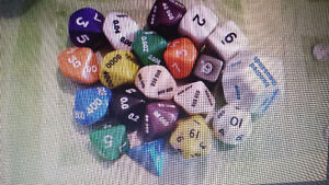 Dice for gaming and/or math