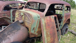 1936 chev 2 door body and chassis only