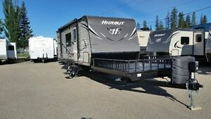 2017 HIDEOUT 21THWE TOY HAULER WITH BUNKS