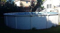 above ground 24' pool . value over $3500