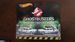 Brand New Hot Wheels Ghostbusters 2 Pack Ecto-1