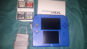 Mario kart blue edition nintendo 2ds with games