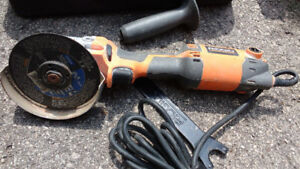 RIDGID 4-12 in. Corded Angle Grinder or best offer    xxxx