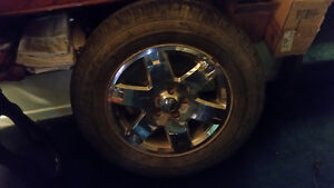 2 jeep liberty tires on rims like new