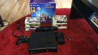 Xbox 360 kinect bundle w/ 2 controllers, n 17 games