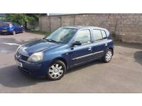 2002 02 RENAULT CLIO 1.2 16V 5 DOOR EXPRESSION.MOT 2018.LOW INSURANCE,GREAT MPG.