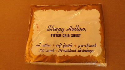 - Vtg 1960's Percale Cotton Fitted Crib Sheet by Sleepy Hollow/Kendall 166 Ct. NOS