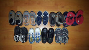 Size 7 and 8 Boy Shoes and Boots Lot - 9 Pairs for Only $35
