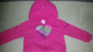 12 month sparkly hoodie euc