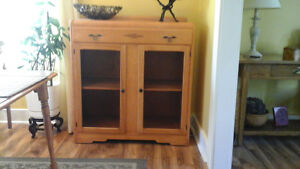 Curved  top birch  cabinet