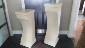 tall plant stand pillars for indoor or outdoor