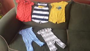 Baby boy summer 6 months clothes