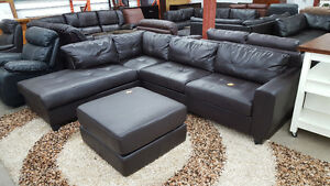Brown sectional - Delivery Available