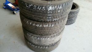 Set of 4 Hankook DynaPro AS LT245/75R16 tires (60% tread life)