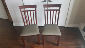 2 Solid Wood Kitchen Chairs