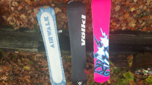 SNOWBOARDS FOR SALE WIIH BINDINGS $100 EACH