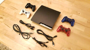 Playstation 3 Bundle, includes 4 controllers & 19 games!