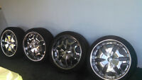 "22"" inch all chrome rims and tiers. **MINT**"