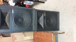 pair of Sunn (made by Fender) PA speakers