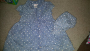18-24 month girl dress with diaper cover  euc hardly warn