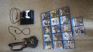 Mint PS4 w/ Rarely Used Turtle Beach, GH & 20 Games