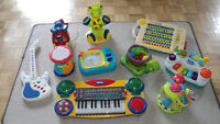 10 MUSICAL BABY TOYS, 30$ THE LOT