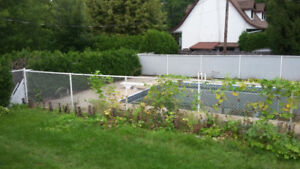 Pool Chain Link Fence for sale, very good condition