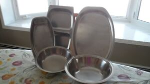 Stainless Bowls and Serving Trays