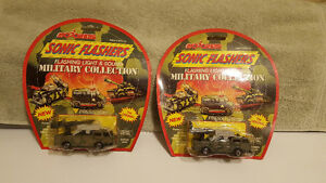 Vintage Majorette Diecast Sonic Flashers - Military Collection
