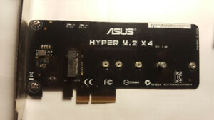 ASUS Hyper M.2 X4 PCI-Express SSD Card Adapter