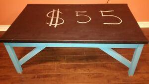 kids chalk table