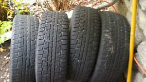 195/65R15 Winter tires with Steel rims, 5 Bolt pattern