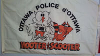 "Ottawa Police ""Hooter & Scooter"" flag/banner. (offers)"