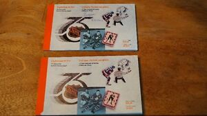 Timbres - Livret de Prestige Ligue Nationale de Hockey