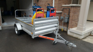 4' x 9' Utility Trailer! Perfect for motorcycles and snowmobiles
