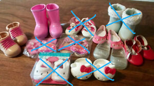 "Various Styles of  18"" Doll Footwear-5 Pairs Remaining"