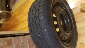 Winter tires mounted on rims - GISLAVED NORDFROST 100 205/55R16